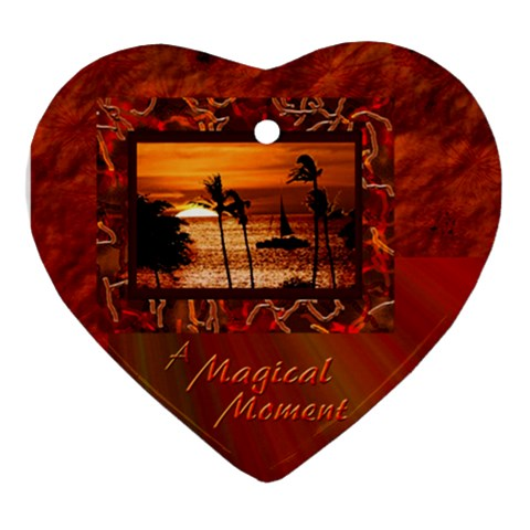Magical Moment Love Ornament By Ellan   Ornament (heart)   69cuskpc1cps   Www Artscow Com Front