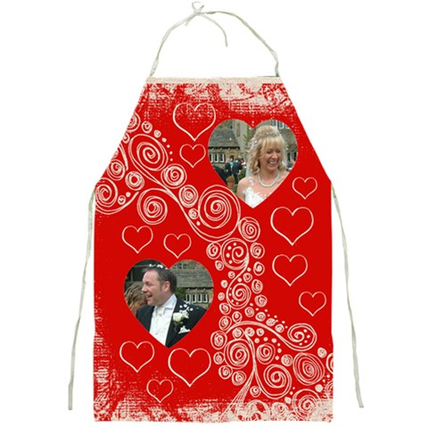 Fantasia Twin Hearts Valentines Umbrella By Catvinnat   Full Print Apron   Urc7dou06uod   Www Artscow Com Front