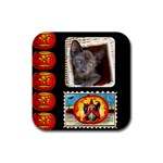 Halloween Coaster2 - Rubber Square Coaster (4 pack)