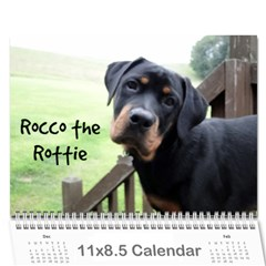 Rocco By Holly    Wall Calendar 11  X 8 5  (12 Months)   Fh1le986vh2u   Www Artscow Com Cover