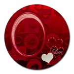 I Heart you love round mousepad