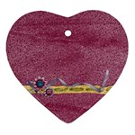Glitter & Flowers ornament - Ornament (Heart)