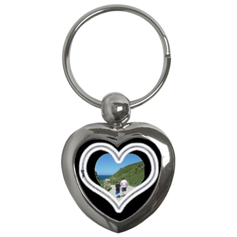 Zipper  Heart Keychain By Catvinnat   Key Chain (heart)   Mrfqpv9cbetj   Www Artscow Com Front