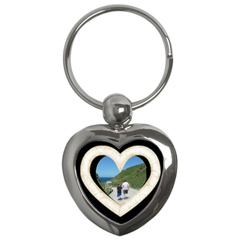 Lace Heart 2 Keychain By Catvinnat   Key Chain (heart)   Z2fmxfo9l2rc   Www Artscow Com Front