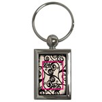Fantasia classic pink frame keyring - Key Chain (Rectangle)