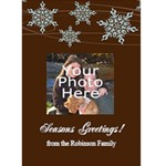 Elegant Snowflakes Personalized Photo Christmas Card - Greeting Card 5  x 7