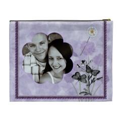 Purple Dreams Xl Cosmetic Bag By Lil    Cosmetic Bag (xl)   Rfe8z63j6dj3   Www Artscow Com Back