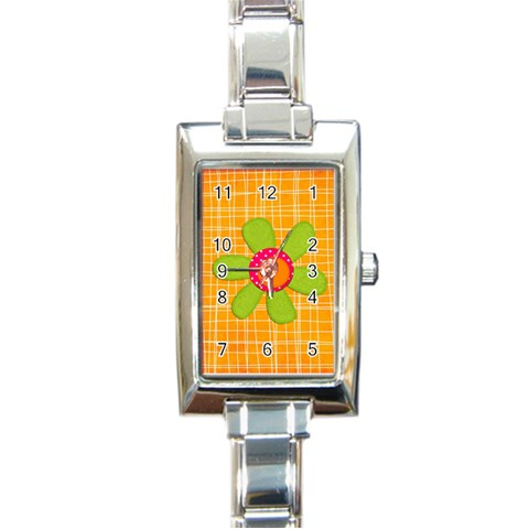 Watch1 By Sheena   Rectangle Italian Charm Watch   D8hgv8s0pmz1   Www Artscow Com Front
