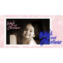 Baby s First Christmas  Girl Photocube By Catvinnat   Magic Photo Cube   3jz35qhuajmh   Www Artscow Com Long Side 3