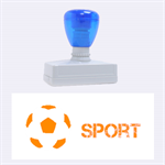 sport - Rubber Stamp (Large)