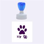 my pet - Rubber Stamp Round (Medium)