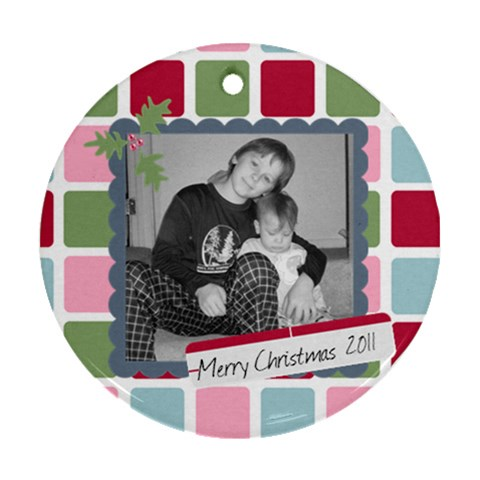 Picture Ornament 1 By Martha Meier   Ornament (round)   Ffy0fc5aqcrf   Www Artscow Com Front