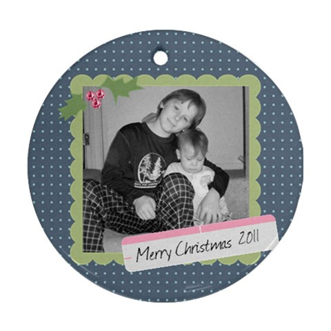 Picture Ornament 4 By Martha Meier   Ornament (round)   6dmzhoftnh79   Www Artscow Com Front