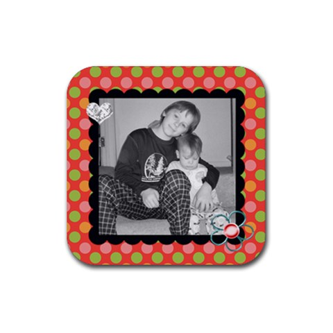 Square Coaster 2 By Martha Meier   Rubber Coaster (square)   S9daasrrvqci   Www Artscow Com Front