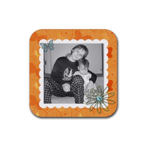 Square Coaster 4 By Martha Meier   Rubber Coaster (square)   2kkxdvw5ch3n   Www Artscow Com Front