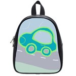 cars4 school bag - School Bag (Small)