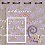 beautiful12x12 - ScrapBook Page 12  x 12