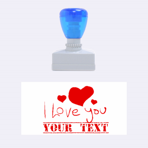 I Love You By Design001   Rubber Stamp (medium)   L26cxj2jha6g   Www Artscow Com 1.34 x0.71  Stamp