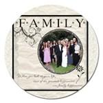 Family 5  Magnet - Magnet 5  (Round)