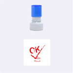 ok - Rubber Stamp Round (Small)