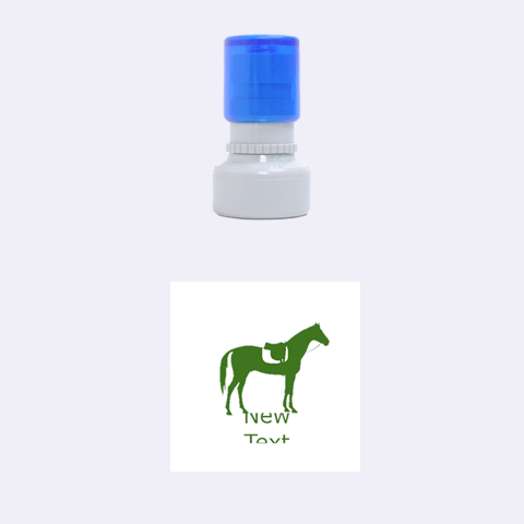 Horse By Design001   Rubber Stamp Round (small)   Wpadipn779sa   Www Artscow Com 1.12 x1.12  Stamp