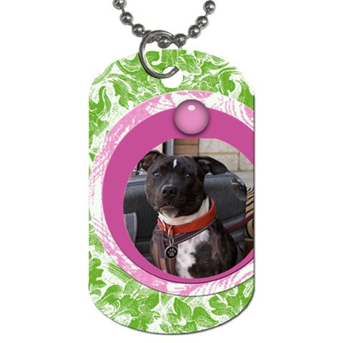 Bubblegum Dog Tag By Joan T   Dog Tag (one Side)   8qewhk9l5x7a   Www Artscow Com Front