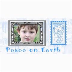 Blue Christmas Photo Card2 By Joan T   4  X 8  Photo Cards   0v85bpe59oaa   Www Artscow Com 8 x4 Photo Card - 4