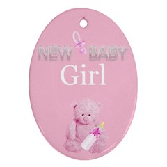 Baby Girl By Nelly   Oval Ornament (two Sides)   5abo7y6yrhoy   Www Artscow Com Back