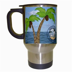 Tropical Vacation Travel Mug By Lil    Travel Mug (white)   Zcuvx3i6i71l   Www Artscow Com Left