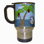 Tropical Vacation Travel Mug - Travel Mug (White)