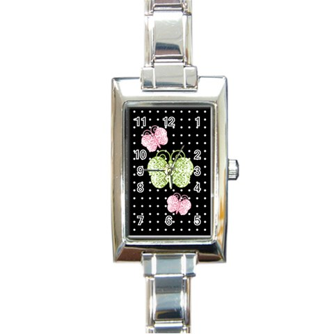 Watch 5 By Martha Meier   Rectangle Italian Charm Watch   2vacl9tm4tgs   Www Artscow Com Front