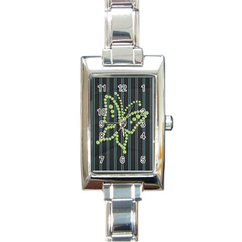 Watch 6 By Martha Meier   Rectangle Italian Charm Watch   Kq2qje31h9dt   Www Artscow Com Front
