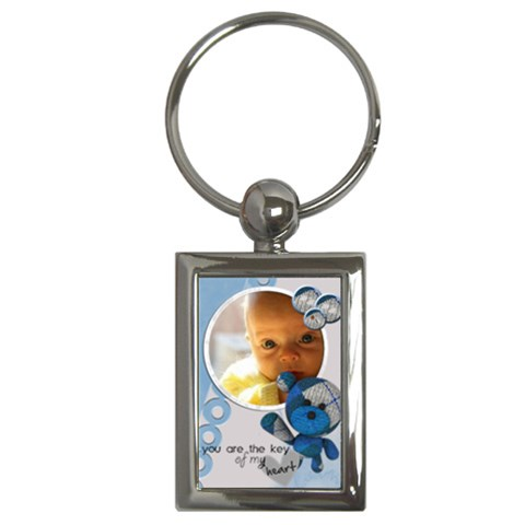 Baby Blue   Key Chain By Carmensita   Key Chain (rectangle)   C1yjohvjxnsz   Www Artscow Com Front