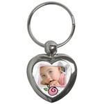 Baby pink - Key chain - Key Chain (Heart)