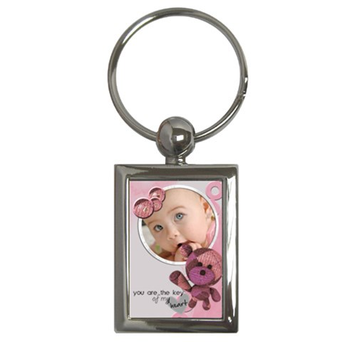 Baby Pink   Key Chain By Carmensita   Key Chain (rectangle)   5407ht66du9k   Www Artscow Com Front