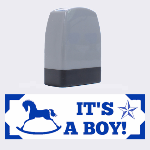It s A Boy Rubber Stamp By Lil    Name Stamp   Da9qljsjjyzr   Www Artscow Com 1.4 x0.5  Stamp
