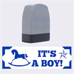 It s A Boy Rubber Stamp - Name Stamp