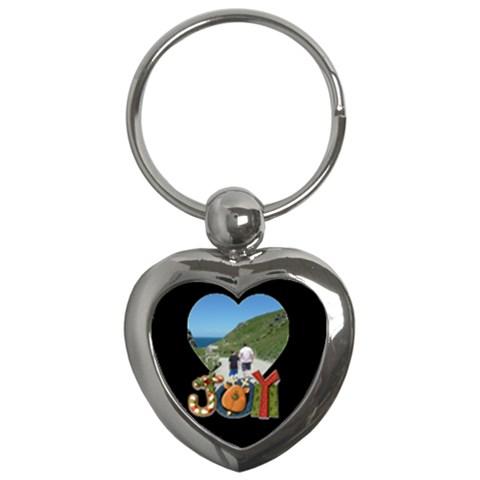 Joy Heart Keychain By Catvinnat   Key Chain (heart)   11cj2tfz1yjk   Www Artscow Com Front