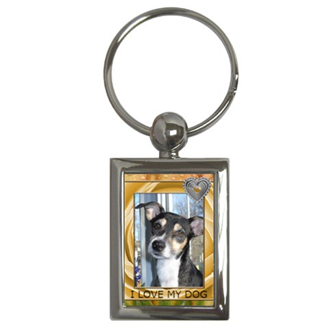 I Love My Dog Keychain By Lil    Key Chain (rectangle)   8ntg5rn6ivk2   Www Artscow Com Front