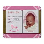 Newborn Baby Girl Mousepad - Large Mousepad