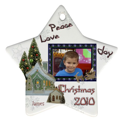 James Xmas By Natalie Reeves   Ornament (star)   Szhe38qbx892   Www Artscow Com Front