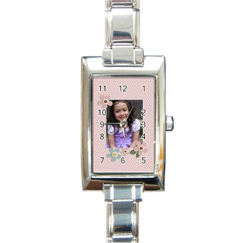 Rectangular Italian Charm Watch   Bianca2 By Jennyl   Rectangle Italian Charm Watch   Mzjat092ighx   Www Artscow Com Front