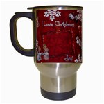 Old Fashioned Christmas Mug angels Remember When red - Travel Mug (White)