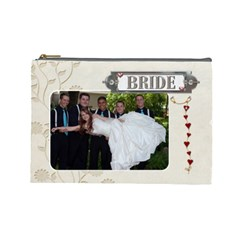Bride/groom Large Cosmetic Bag By Lil    Cosmetic Bag (large)   Qot742hada87   Www Artscow Com Front