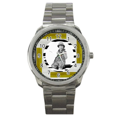 Safari Stainless Steel Watch Watch By Catvinnat   Sport Metal Watch   9uxhtajwewml   Www Artscow Com Front