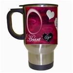 I heart You Pink Mug 3rd - Travel Mug (White)