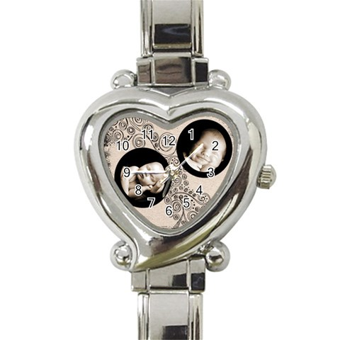 Fantasia Classic Heart Watch 2 By Catvinnat   Heart Italian Charm Watch   I6iesababt5r   Www Artscow Com Front