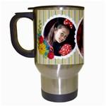 Travel Mug- template -bianca - Travel Mug (White)