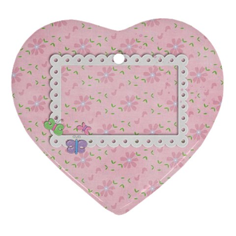 Pink Ornament By Mikki   Ornament (heart)   J96z7h5o1i5k   Www Artscow Com Front
