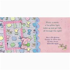 Slumber Party Invitation Photo Card By Mikki   4  X 8  Photo Cards   4dafppodpdjc   Www Artscow Com 8 x4 Photo Card - 10